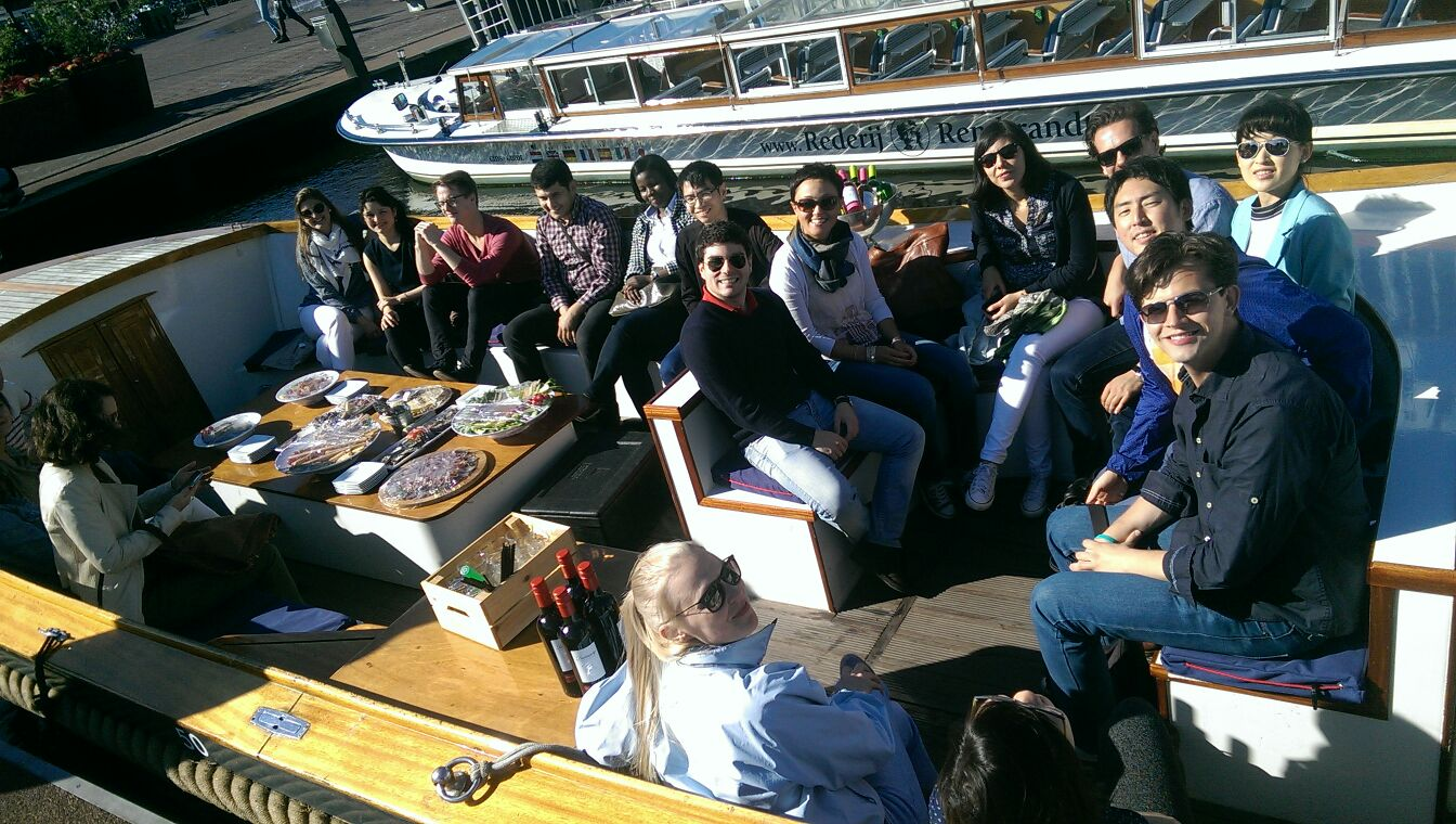 Participants of the LERU Summer School on a boat trip